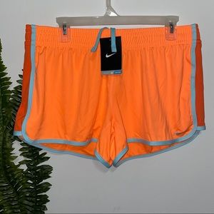 Nike Dri Fit Training Shorts Orange L NWT